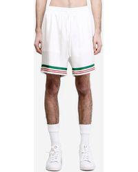 CASABLANCA Shorts CASA TENNIS STRIPE - Bianco