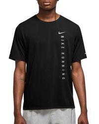 Nike T-SHIRT MILER RUN DIVISION - Nero