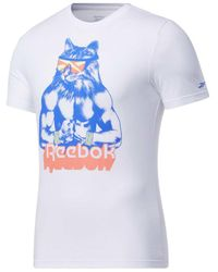 Reebok - T-SHIRT GRITTY KITTY - Lyst