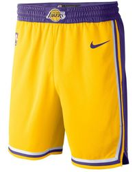 Nike SHORT LOS ANGELES LAKERS - Giallo