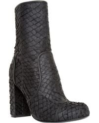 Leon Max - Hatch : Textured Leather Boots - Lyst