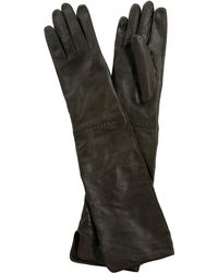 Leon Max - Long Leather Gloves - Lyst
