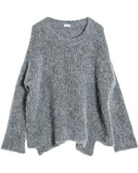 Leon Max - Oversized Alpaca Pullover Sweater - Lyst