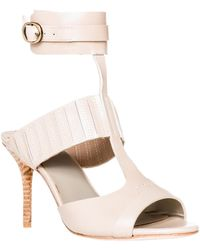 Leon Max - Wonder : Waxed Leather Ankle Wrap Sandals - Lyst