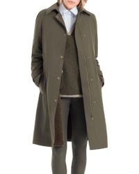 Leon Max - Faux Fur Lined Water Resistant Overcoat - Lyst