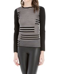 Leon Max - Knitted Striped Sweaterâ - Lyst