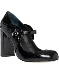 Leon Max - Holmby : Patent Leather High Heel Mary Janes - Lyst