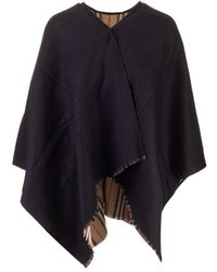 Burberry Wool Poncho - Black