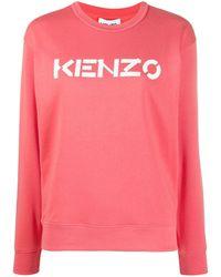 KENZO - Sweatshirt mit Logo-Print - Lyst
