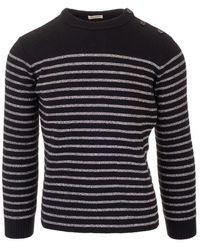 Saint Laurent Cotton Sweater - Black