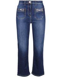 Elisabetta Franchi Jeans pj17s16e2139 cotone - Blu