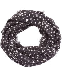 Saint Laurent Black Silk Scarf