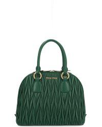 Miu Miu Green Leather Handbag