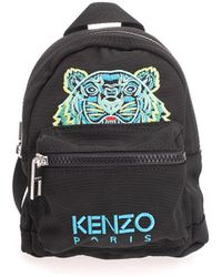 KENZO Mini Tiger Embroidered Backpack - Black
