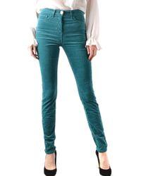 Elisabetta Franchi - Green Cotton Jeans - Lyst