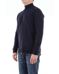 Drumohr Superfeiner pullover mit reißverschluss aus merinowolle - Blau
