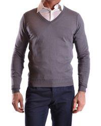 Paolo Pecora Grey Silk Jumper - Gray