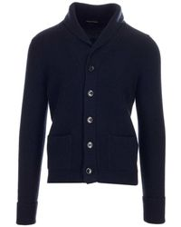 Tom Ford KASCHMIR STRICKJACKE - Blau