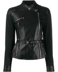 Pinko Leather Outerwear Jacket - Black