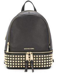 Michael Kors Black Leather Backpack