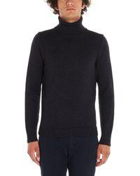 Zanone Grey Wool Jumper - Gray
