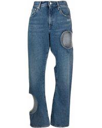Off-White c/o Virgil Abloh Jeans con detaglio cut-out - Blu