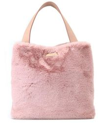 Orciani B02031ecofur Faux Leather Tote - Pink