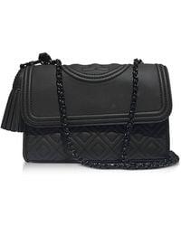 65886e5524d Tory Burch - Black Polyurethane Shoulder Bag - Lyst