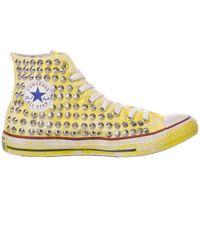 Converse Mi1267 stoff hi top sneakers - Gelb