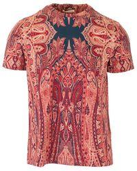 Etro Paisley-print T-shirt - Red