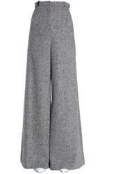 Lanvin Wide Trousers - Grey