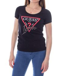 Guess Black Cotton T-shirt