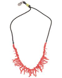 Valentino Garavani Metal Necklace - Red