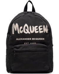 Alexander McQueen Graffiti Metropolitan Rucksack - Schwarz