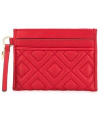 Tory Burch Leather Wallet - Red