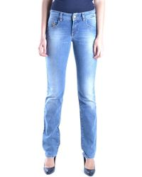 John Galliano Women's Mcbi130013o Blue Cotton Jeans