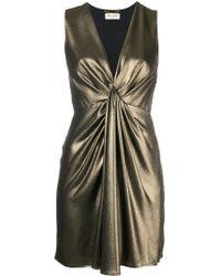 a9e124eb3e01 Saint Laurent Pussy Bow Shirt Dress in Black - Lyst
