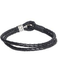 Paul Smith Black Leather Bracelet