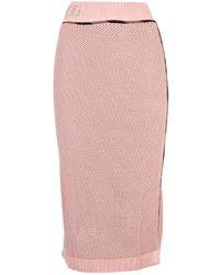 Fendi Viscose Skirt - Pink