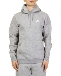 Nike Grey Cotton Sweatshirt - Gray
