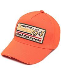 DSquared² Baseballkappe mit Logo-Patch - Orange