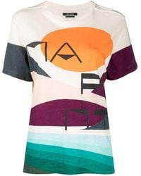 Isabel Marant - T-Shirt mit Print - Lyst