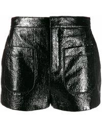 Saint Laurent Cotton Shorts - Black