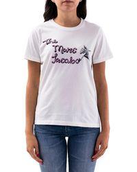 Marc Jacobs BAUMWOLLE T-SHIRT - Weiß