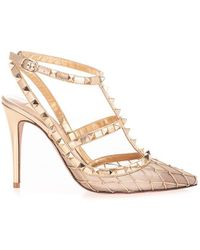 Valentino Garavani Leather Heels - Metallic