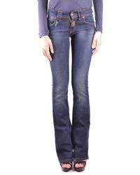 John Galliano Women's Mcbi130086o Blue Cotton Jeans