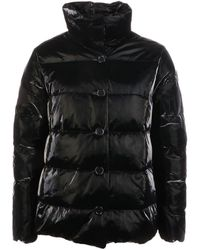 Aspesi Black Synthetic Fibers Down Jacket