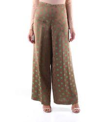 Maliparmi Viscose Trousers - Brown