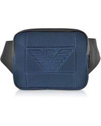 Emporio Armani Polyester Belt Bag - Blue