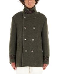 Brunello Cucinelli Green Wool Coat